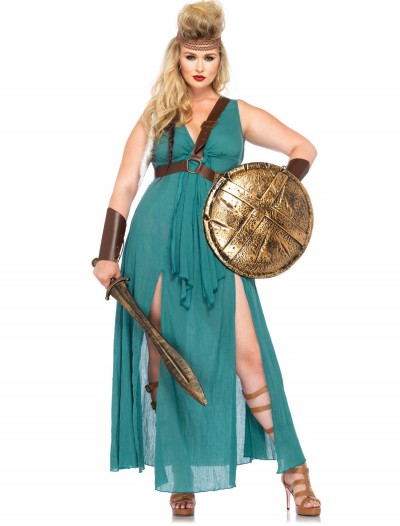 Plus Size Warrior Maiden Costume, halloween costume (Plus Size Warrior Maiden Costume)