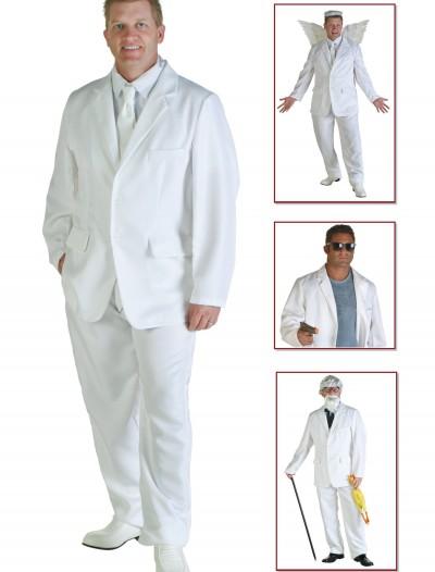 Plus Size White Suit Costume, halloween costume (Plus Size White Suit Costume)