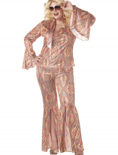 Plus Size Women's Disco Costume, halloween costume (Plus Size Women's Disco Costume)