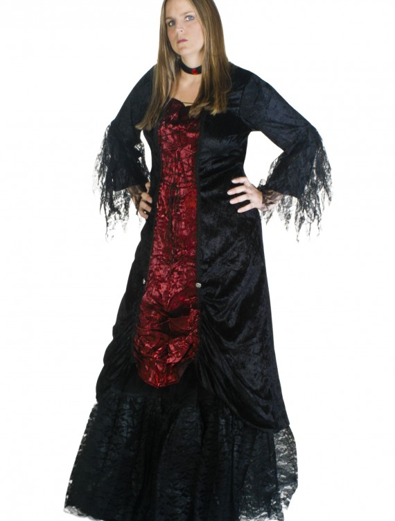 Plus Size Womens Gothic Vampire Costume, halloween costume (Plus Size Womens Gothic Vampire Costume)