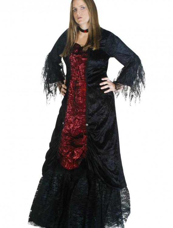 Plus Size Womens Gothic Vampire Costume, halloween costume (Plus Size Womens Gothic Vampire Costume)