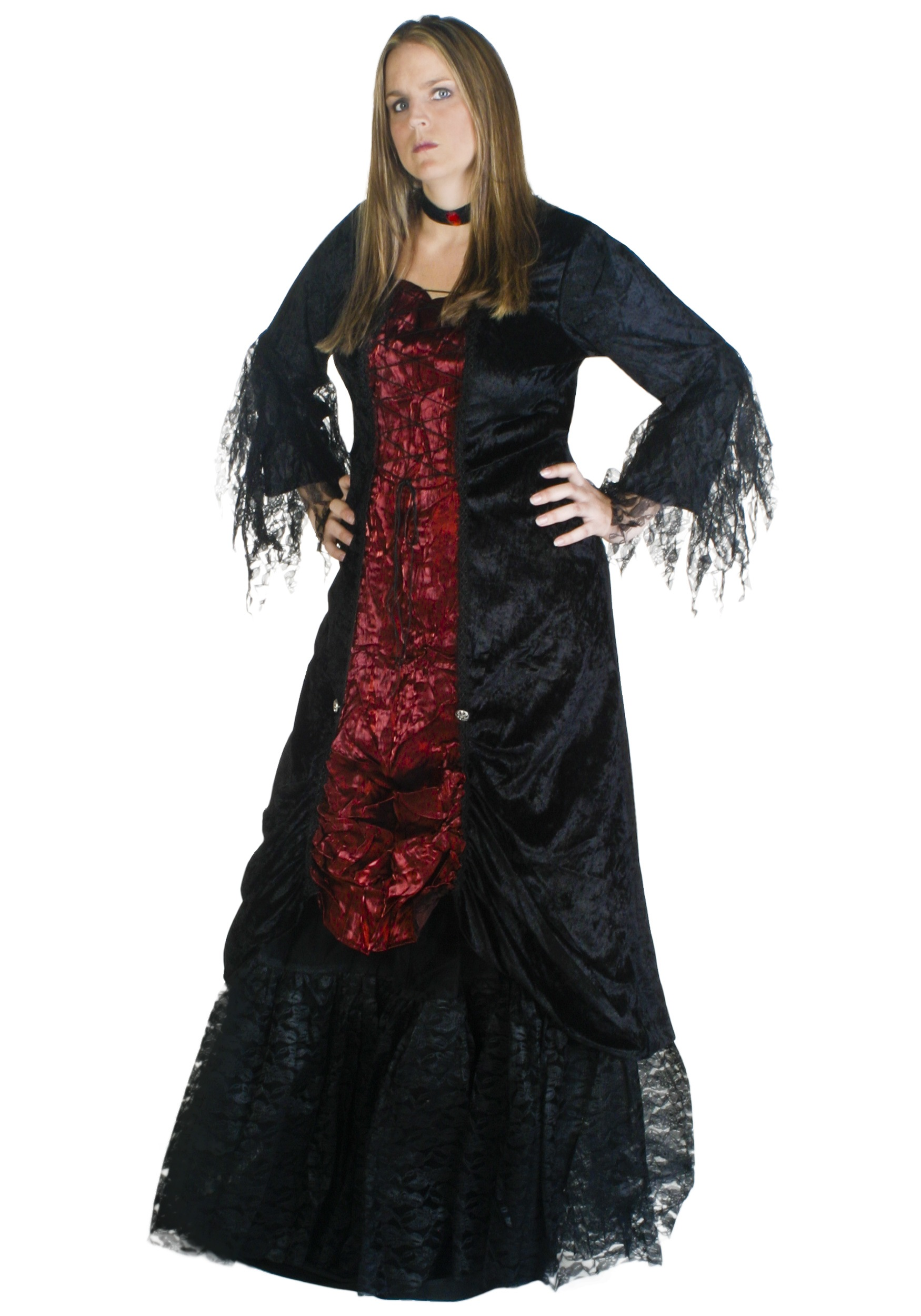Plus Size Womens Gothic V&ire Costume  sc 1 st  Halloween Costumes & Plus Size Womens Gothic Vampire Costume - Halloween Costumes