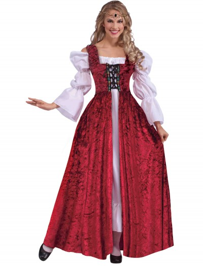 Plus Size Women's Medieval Laced Gown, halloween costume (Plus Size Women's Medieval Laced Gown)
