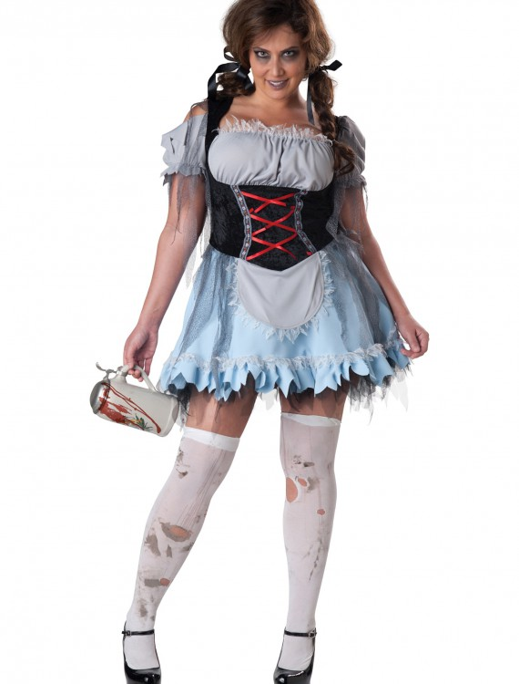 Plus Size Zombie Beer Maiden Costume, halloween costume (Plus Size Zombie Beer Maiden Costume)