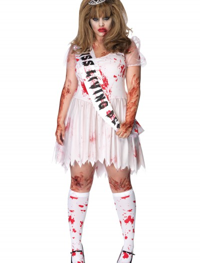 Plus Size Zombie Prom Queen Costume, halloween costume (Plus Size Zombie Prom Queen Costume)