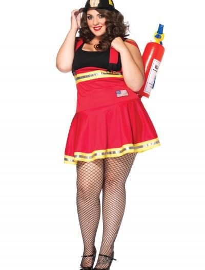 Plus Three Alarm Hottie Firefighter Costume, halloween costume (Plus Three Alarm Hottie Firefighter Costume)