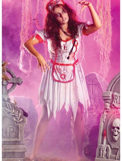 Plus Zombie Nurse Costume, halloween costume (Plus Zombie Nurse Costume)