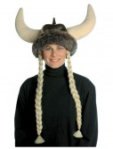 Plush Viking Hat w/Braids, halloween costume (Plush Viking Hat w/Braids)