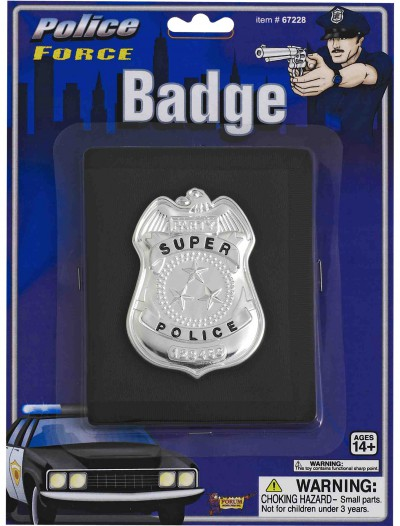 Police Badge on Wallet, halloween costume (Police Badge on Wallet)