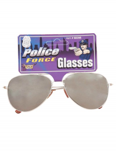 Police Force Mirrored Sunglasses, halloween costume (Police Force Mirrored Sunglasses)