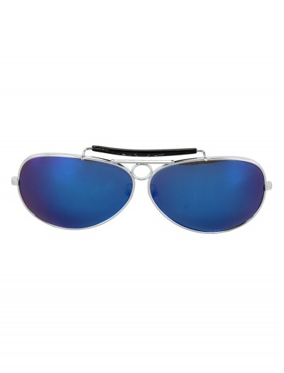 Police Glasses Silver and Black, halloween costume (Police Glasses Silver and Black)