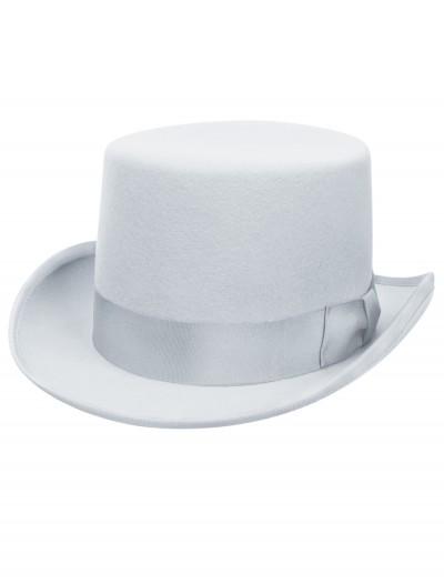 Powder Blue Wool Top Hat, halloween costume (Powder Blue Wool Top Hat)