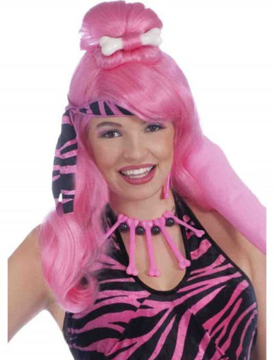 Prehistoric Pink Princess Wig, halloween costume (Prehistoric Pink Princess Wig)