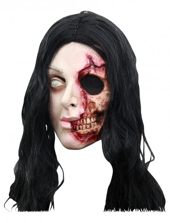Pretty Zombie Woman Mask, halloween costume (Pretty Zombie Woman Mask)