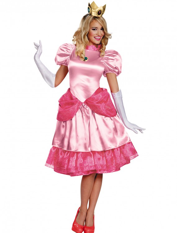 Princess Peach Deluxe Adult, halloween costume (Princess Peach Deluxe Adult)
