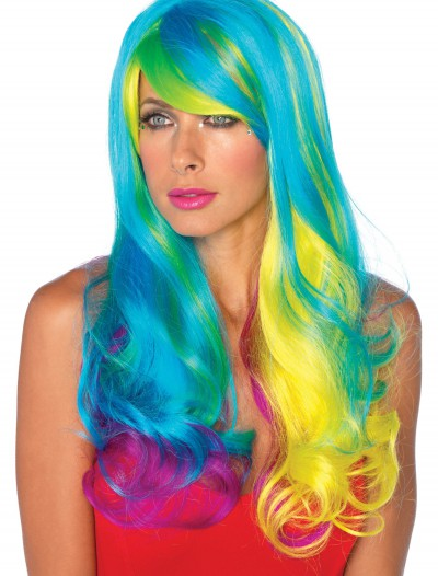 Prism Long Rainbow Wig, halloween costume (Prism Long Rainbow Wig)