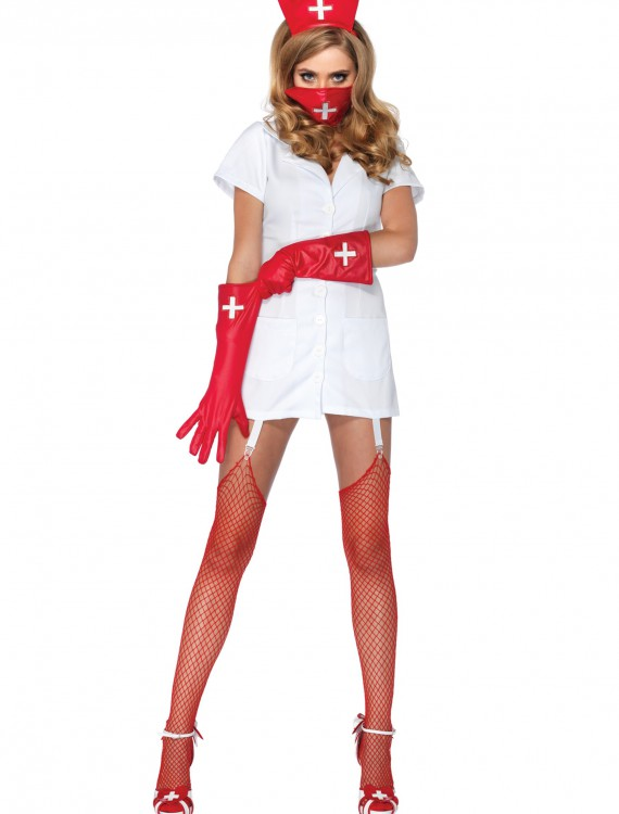 Psycho Nurse Sally Costume, halloween costume (Psycho Nurse Sally Costume)