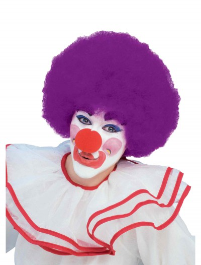 Purple Afro Clown Wig, halloween costume (Purple Afro Clown Wig)