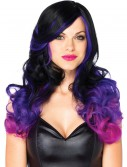 Purple and Black Faded Wig, halloween costume (Purple and Black Faded Wig)