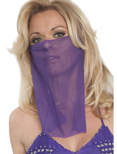 Purple Face Veil, halloween costume (Purple Face Veil)