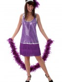 Purple Plus Size Flapper Dress, halloween costume (Purple Plus Size Flapper Dress)