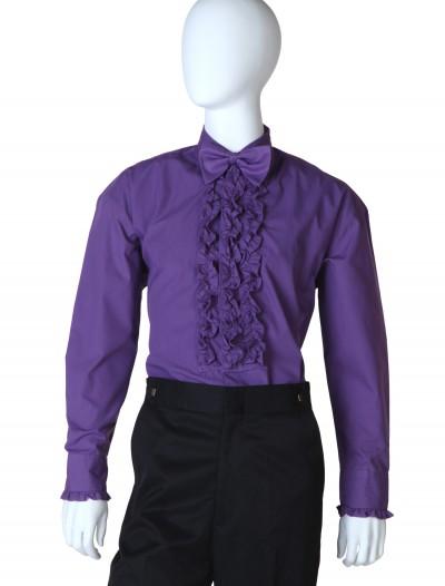 Purple Ruffled Tuxedo Shirt, halloween costume (Purple Ruffled Tuxedo Shirt)