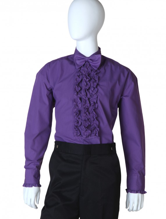 Purple Ruffled Tuxedo Shirt, halloween costume (Purple Ruffled Tuxedo Shirt)