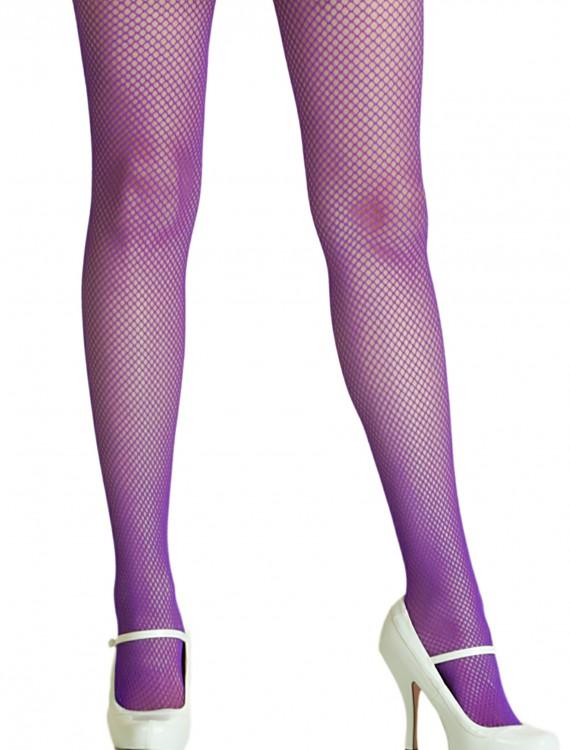 Purple Spandex Fishnet Tights, halloween costume (Purple Spandex Fishnet Tights)