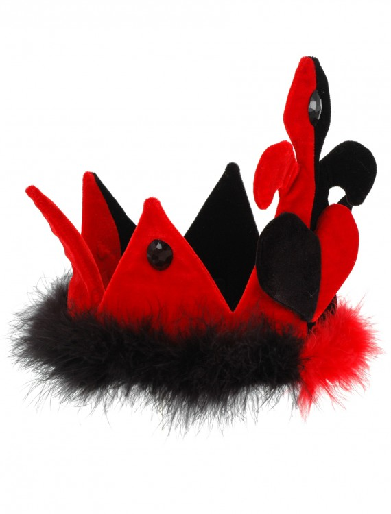 Queen of Hearts Crown Hat, halloween costume (Queen of Hearts Crown Hat)