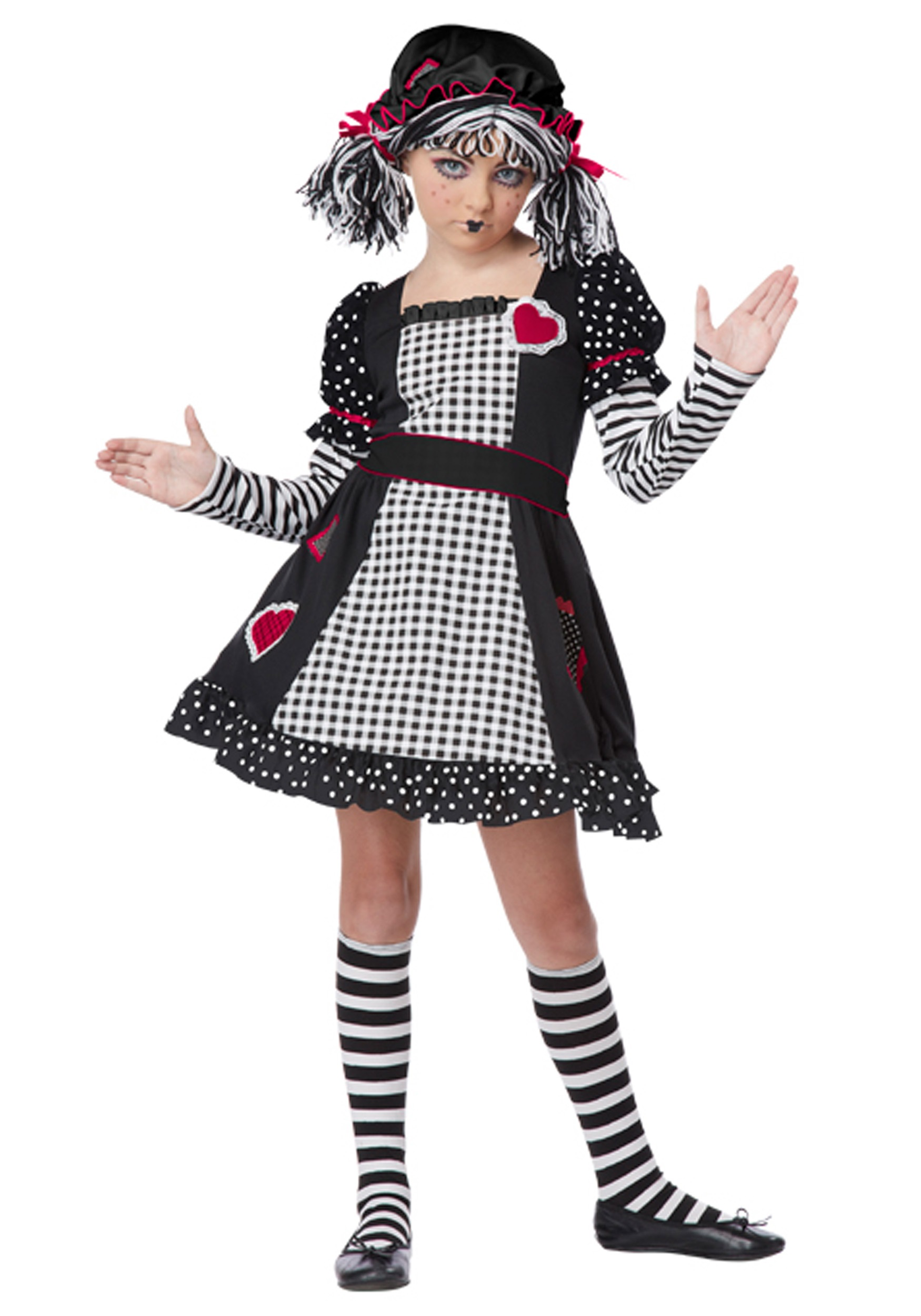 rag doll girls costume - halloween costumes