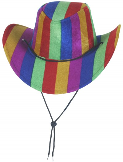 Rainbow Cowboy Hat, halloween costume (Rainbow Cowboy Hat)