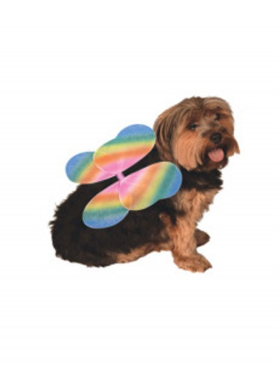 Rainbow Fairy Wings Pet Costume, halloween costume (Rainbow Fairy Wings Pet Costume)