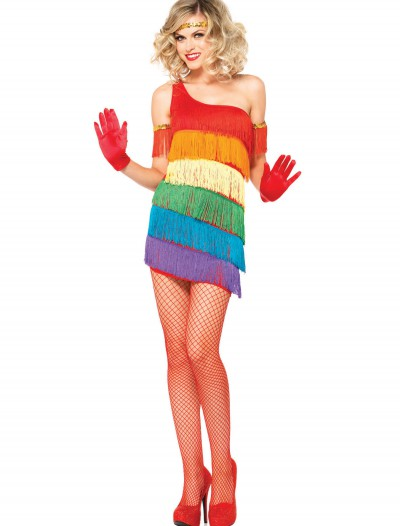 Rainbow Flapper Costume, halloween costume (Rainbow Flapper Costume)