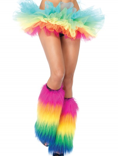 Rainbow Furry Leg Warmers, halloween costume (Rainbow Furry Leg Warmers)