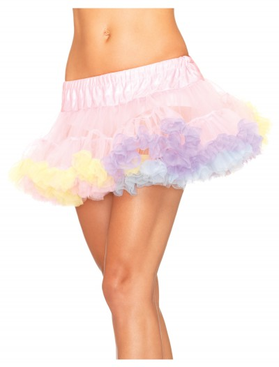 Rainbow Mini Tulle Petticoat, halloween costume (Rainbow Mini Tulle Petticoat)