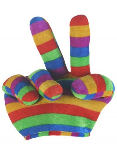 Rainbow Peace Sign Hat, halloween costume (Rainbow Peace Sign Hat)