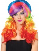 Rainbow Rocker Wig, halloween costume (Rainbow Rocker Wig)