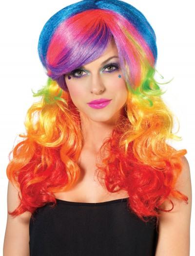 Rainbow Rocker Wig, halloween costume (Rainbow Rocker Wig)