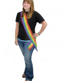 Rainbow Satin Sash, halloween costume (Rainbow Satin Sash)