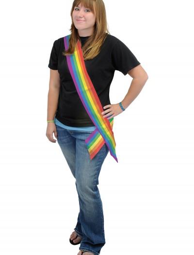 Rainbow Satin Sash, halloween costume (Rainbow Satin Sash)