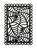 Rectangular Black Spider Web Placemat, halloween costume (Rectangular Black Spider Web Placemat)