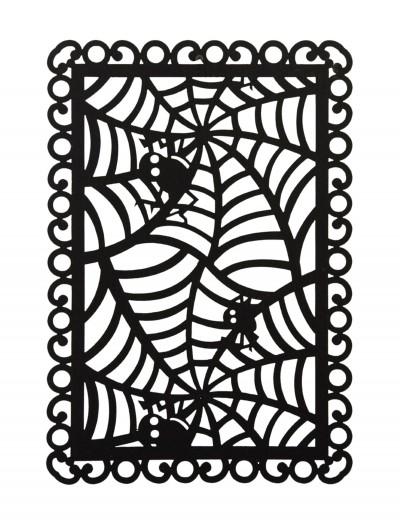 Rectangular Black Spider Web Placemat, halloween costume (Rectangular Black Spider Web Placemat)
