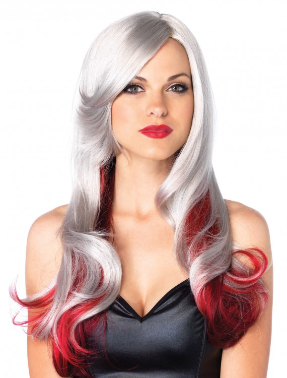 Red and Gray Two Toned Wig, halloween costume (Red and Gray Two Toned Wig)