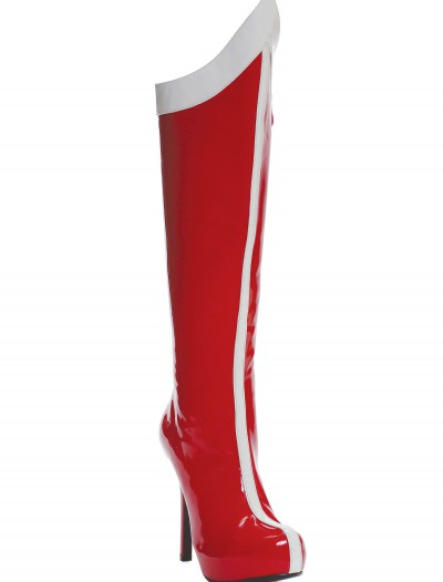 Red and White Superhero Boots, halloween costume (Red and White Superhero Boots)