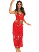 Red Belly Dancer Costume, halloween costume (Red Belly Dancer Costume)