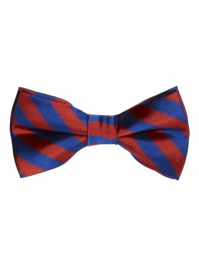 Red/Blue Striped Bow Tie, halloween costume (Red/Blue Striped Bow Tie)