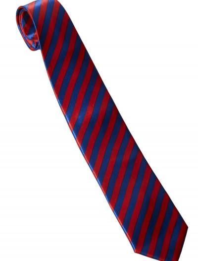 Red/Blue Striped Windsor Necktie, halloween costume (Red/Blue Striped Windsor Necktie)