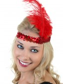 Red Flapper Headband, halloween costume (Red Flapper Headband)