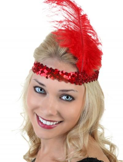 Red Flapper Headband, halloween costume (Red Flapper Headband)