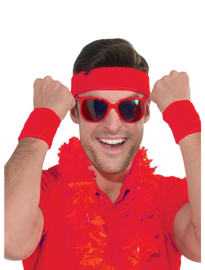 Red Headband and Wristband Kit, halloween costume (Red Headband and Wristband Kit)